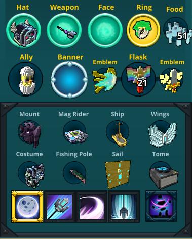 Trove account Ice Sage 32.8k lunar lancer items
